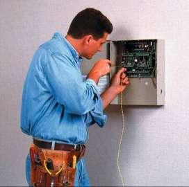 instalador sistema alarmas, camaras de segur.  y/o controles de acceso