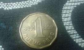 Moneda De Uruguay 1 Nuevo Peso Del Año 1976