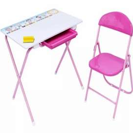 escritorio infantil rosado / azul