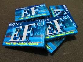 CASSETTES SONY EF 60, VINTAGES DE COLECCION.