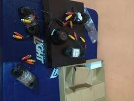 kit de camaras con grabador de seguridad samsung
