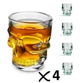 Set x4 Copas Calaveras