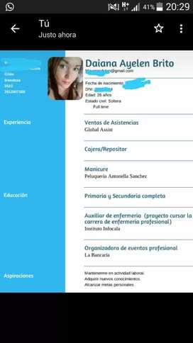 Busco empleo!! URGENT
