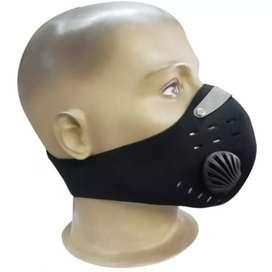 Máscara antipolucion con filtro de carbón activado