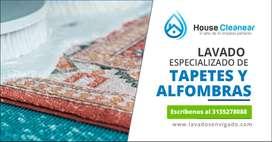 Lavado y limpieza especializada de Tapetes