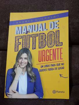 Libro Manual de fútbol urgente de Andrea Guerrero