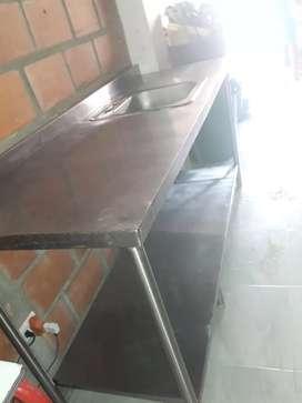 Venta de Mesón de trabajo con lavaplatos