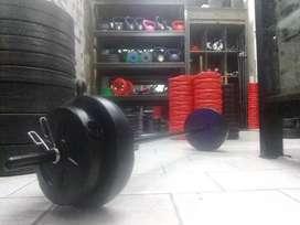 Kit body pump-funcional 15kg + barra reforzada $4000