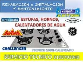 Reparacion, mantenimiento estufas, hornos