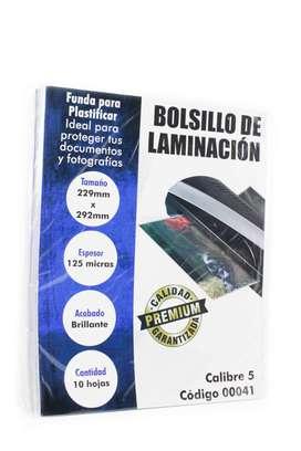 Bolsillo Laminación Carta CL 5 Super Adhesivo x 10 Unid