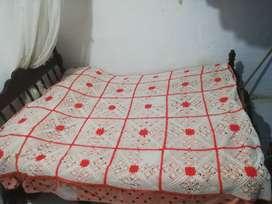 Tendido de crochet para cama mediana