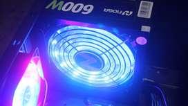 FUENTE ATX 600W RGB GAMER NOGA NUEVA EN CAJA