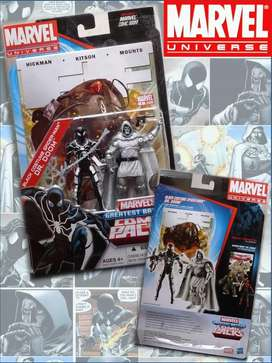BLACK COSTUME SPIDERMAN & DR. DOOM / MARVEL UNIVERSE COMIC PACK