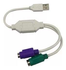 Convertidor De Usb A Ps2 Teclado Y Mouse Viejitos / Cable PS2 / USB a PS2 Teclado y Mouse