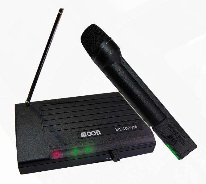 Microfono Inalambrico Mano Moon Mei03vm Vhf Karaoke 0