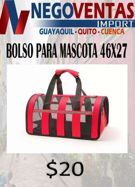 BOLSO GRANDE PARA MASCOTA PORTATIL MEDIDAS 46 CMS X 27 CMS