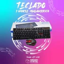 Combo Teclado + Mouse Inalámbrico Hk 6500 1600 Dpi Gamer