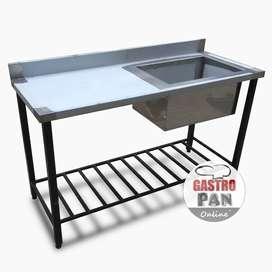 Bacha Simple Acero Inoxidable 150x60 cmGastroPan Argentina
