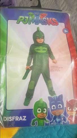 disfraz heroes en pijamas pj mask gekok