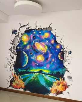 Elaboración de Pinturas y murales por encargo Decoración diferente para tus espacios Murales Medellin Precio Mural