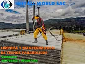 mantenimiento y limpieza  de  techos parabólicos ,  naves,  letreros publicitarios y fachada  muro cortina