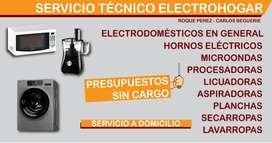Técnico Reparación lavarropas electrodomésticos Roque Perez