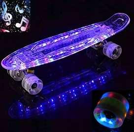 Skate Mini Cruiser Tipo Penny ¡¡ C/ Bluetooth & Luces Led !!