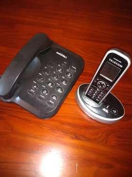 Vendo teléfono fijo más un inalámbrico