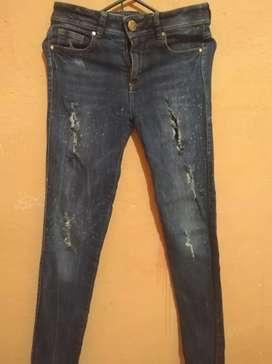 Jeans studio f tiro alto   talla 10