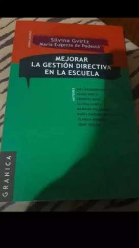 """Libro """"mejorar la gestión directiva en la escuela"""""""