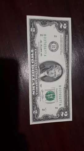 Vendo billete de $ 2