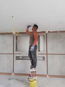 Instalación de techos en PVC y todo el sistema drywall
