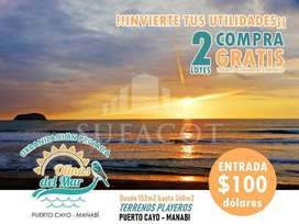 Terrenos de venta en la playa - Lotes desde 155M2 hasta 297M2 Manabi SD2