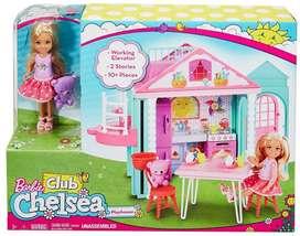 CASA CLUB CHELSEA Con Muñeca Y Accesorios barbie Mattel CAJA SELLADAS