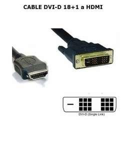 CABLE DVI-D 18+1 A HDMI