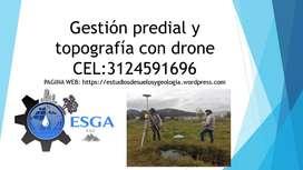 gestión predial y topografia con drone