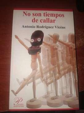 Libro No Son Tiempos De Callar De Antonio Rodríguez Vicens