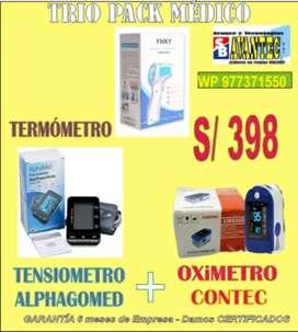 Kit pack Tensiometro - Oximetro - Termometro  Garantia empresa Trio Salvador