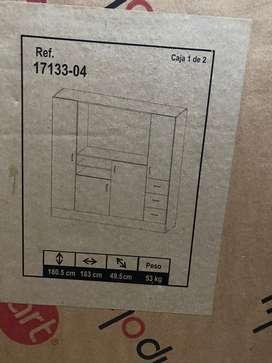 Mueble nuevo para TV con armario