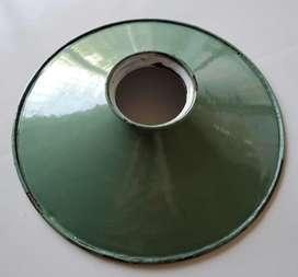 Lampara enlozada antigua 20 cm tipo galponera excelente