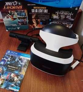 Vendo realidad virtual para PS4 + cámara y un disco demo en perfecto estado sale probado