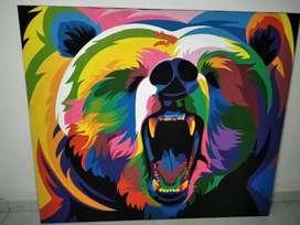 Cuadro colorido oso