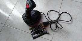 Joystick Genius mas tarjeta con su conector