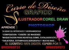 Curso de Diseño Gráfico( Corel DRAW- PHOTOSHOP-ILUSTRADOR WORD AVANZADO, EXCEL, ETC.