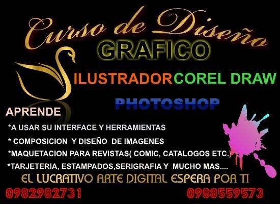 Curso de Diseño Gráfico( Corel DRAW- PHOTOSHOP-ILUSTRADOR WORD AVANZADO, EXCEL, ETC. 0