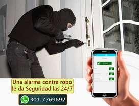 Alarma Contra Robo o intrusión monitoreada desde el celular. Cali.