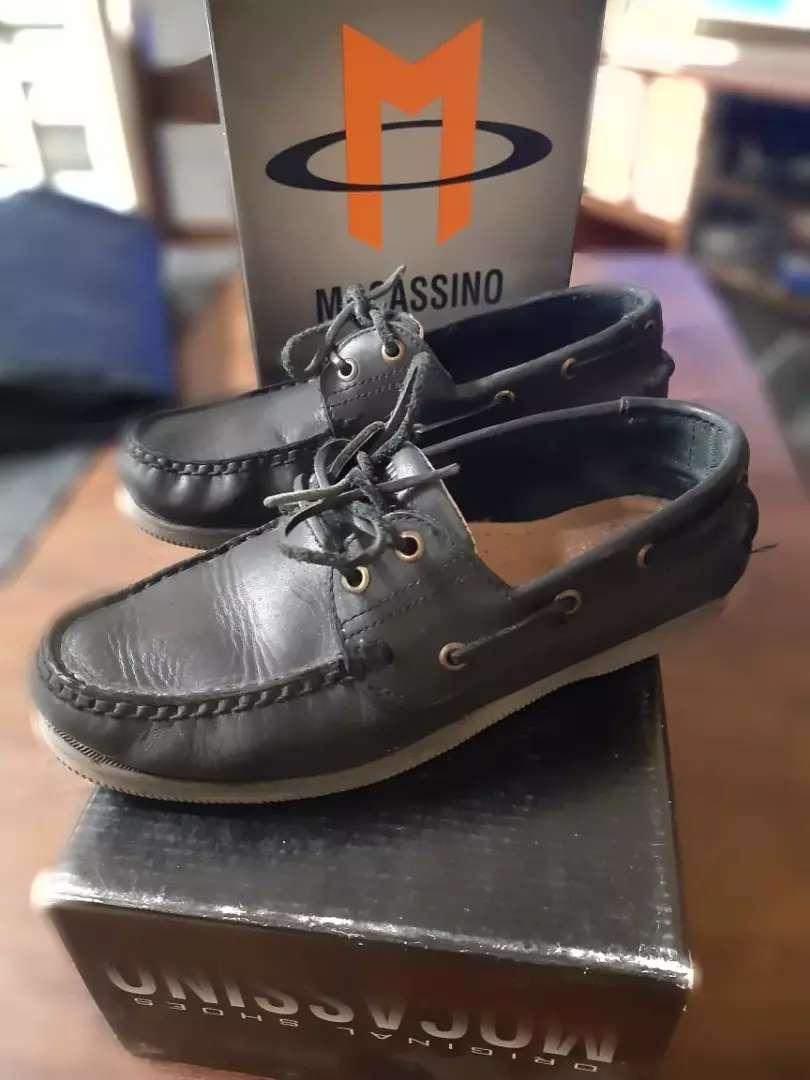 Zapatos mocassinos escolares unisex 0