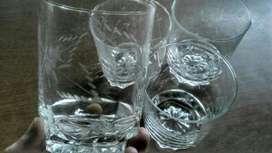 Lote Vasos Trago Whisky Cristal Tallado