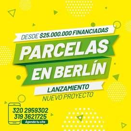 VENTA DE PARCELAS DE 1250 M2 EN BERLIN A 3 minutos de la via principal