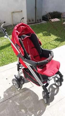Cochecito bebé + huevito y soporte para auto.